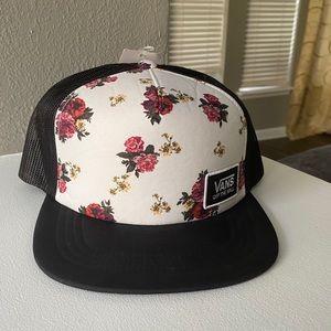 NWT VANS Flower Trucker Hat